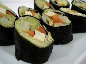 Alga nori en Sushi