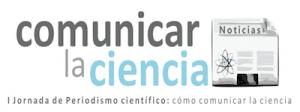 Logo de las I Jornadas de periodismo divulgativo - Comunicar la Ciencia