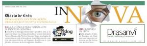 Imagen de la cabecera del suplemento Innova donde aparece Blog de laboratorio