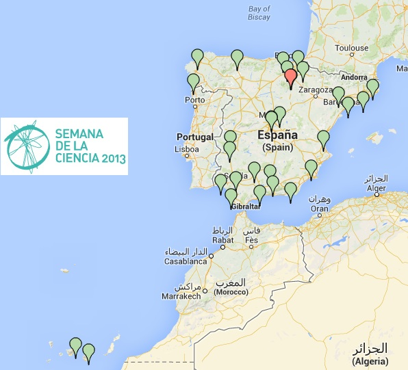 Mapa de la Semana de la Ciencia 2013
