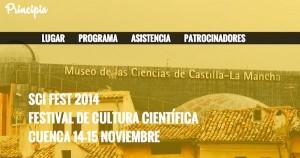 Web del Sci Fest de Cuenca