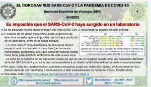 Estudio de la Sociedad Española de Virología demostrando la no procedencia del virus por manipulación genética.