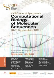 Póster del X simposio del CRG sobre Biología computacional