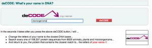 interfaz de la aplicación web deCODE