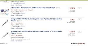 ejemplo de compra para laboratorio